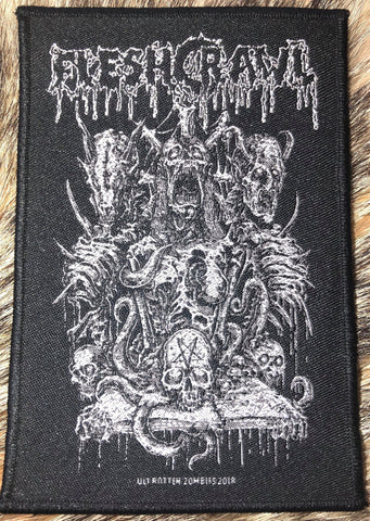 Fleshcrawl - Occult Throne Black Border Patch