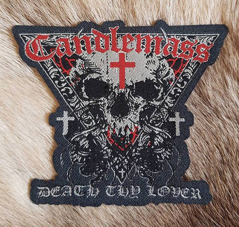 Candlemass - Death Thy Lover Patch with Red Logo