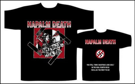 Napalm Death- Nazi Punks Fuck Off Short Sleeved T-shirt