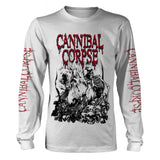 Cannibal Corpse - Pile of Skulls White Long Sleeve Shirt
