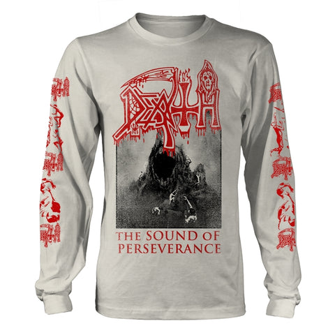Death - The Sound of Perseverance White Long Sleeve Shirt