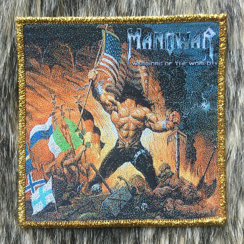 Manowar - Warriors of the World Gold Border Patch