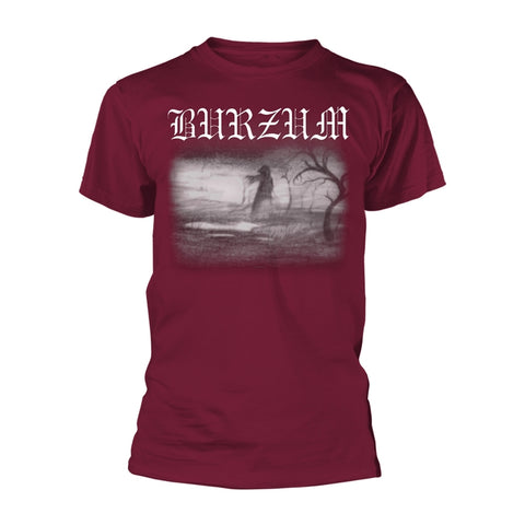 Burzum - Aske 2013 Maroon Short Sleeved T-shirt