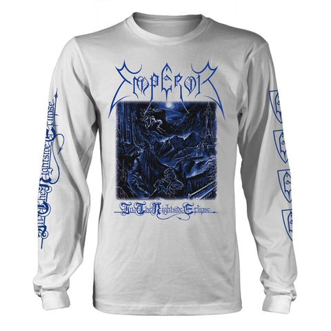 Emperor - In the Nightside Eclipse White Long Sleeve Shirt