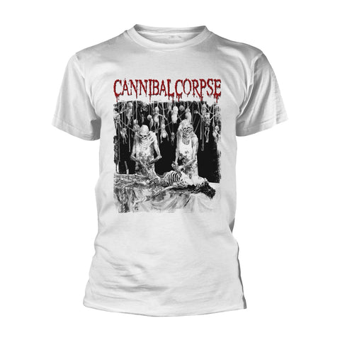 Cannibal Corpse - Butchered At Birth White Short Sleeved T-shirt