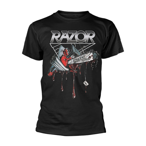 Razor - Violent Restitution Short Sleeved T-shirt 2019 Design!