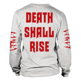 Cancer - Death Shall Rise White Long Sleeve Shirt