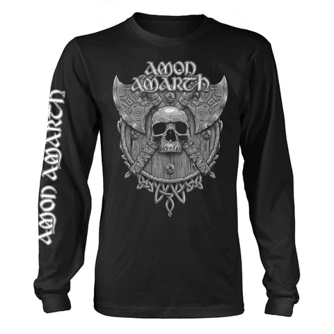 Amon Amarth - Grey Skull Long Sleeve Shirt
