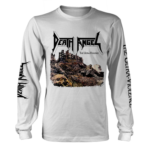 Death Angel - The Ultra-Violence White Long Sleeve Shirt