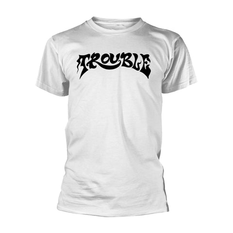 Trouble - Logo White Short Sleeved T-shirt