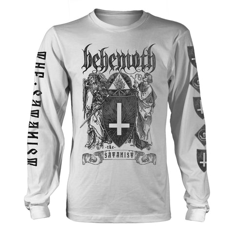 Behemoth - The Satanist White Long Sleeve Shirt