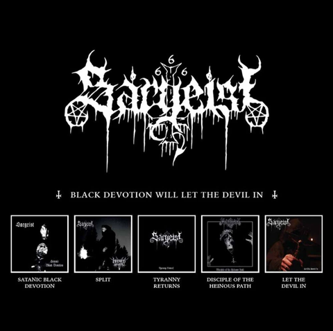 Sargeist - Black Devotion Will Let the Devil In 5 CD Box Set - SHIPPING NOW!