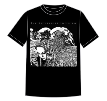 The Antichrist Imperium - The Antichrist Imperium Album Cover Short Sleeved T-shirt - LAST SIZES!