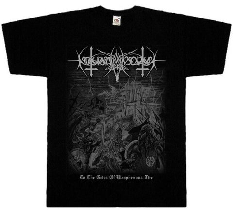 Nokturnal Mortum - To the Gates of Blasphemous Fire Short Sleeved Tshirt
