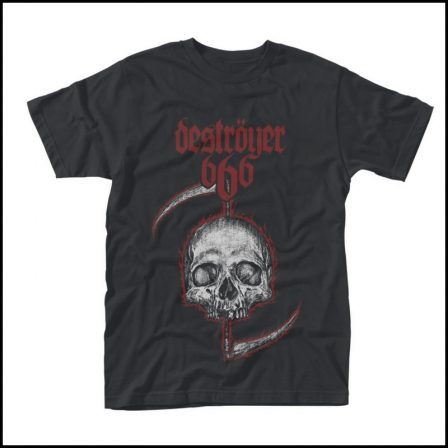 Destroyer 666 - Skull Short Sleeved T-shirt