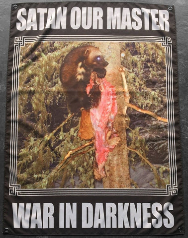 Satanic Warmaster - Satan Our Master - War In Darkness Flag