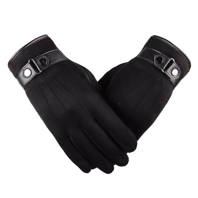 Top Quality Leather Touch Screen Gloves Men's Fashion Gloves 4 Colors