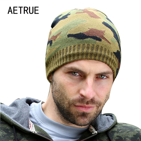 Men's Camouflage Knit Winter Beanie Skullie Cap Hat