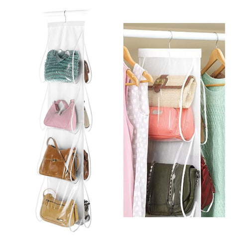 8 Grids Storage Bag Hanging Purse Handbag Closet Organizer