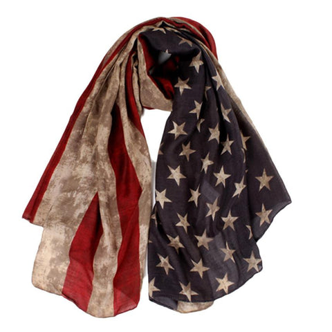Women's Camouflage American Flag Winter Scarf