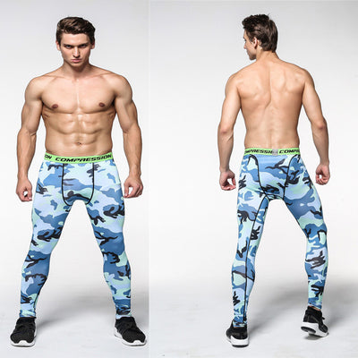 Men's Camouflage Fitness Crossfit Compression Activewear Pants