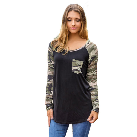 Women's Camouflage Long Sleeve Cotton Shirt