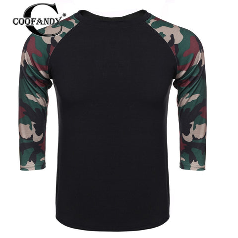 Men's COOFANDY 3/4 Raglan Sleeve Contrast Color Basic Tee T-Shirt US Size