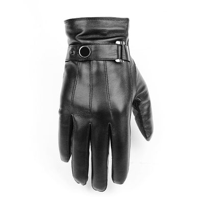 Men's Italian Sheepskin Natural Leather Touch Screen Fashion Driving Gloves