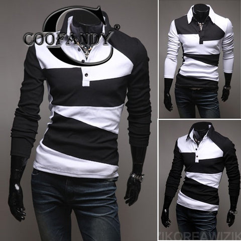 Men's COOFANDY Long Sleeve Casual Slim Fit Knit Shirt