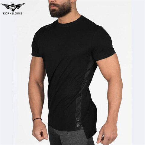Men's Fitness Crossfit Casual Top T-Shirt
