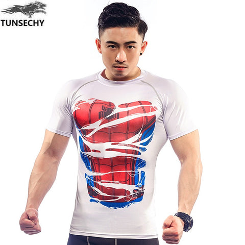 Men's Novelty Action Heroes 3D Printed T-shirts Activewear Crossfit Tops