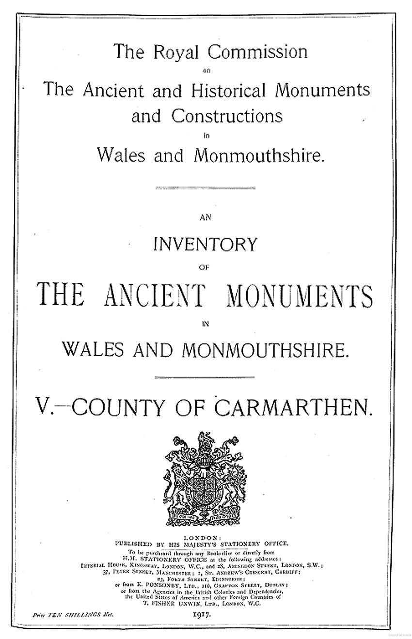 Carmarthenshire: An Inventory of the Ancient Monuments in the County (eBook)