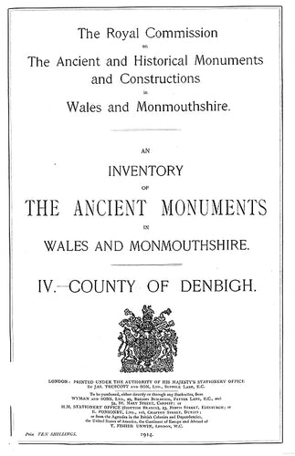Denbighshire: An Inventory of the Ancient Monuments in the County (eBook)