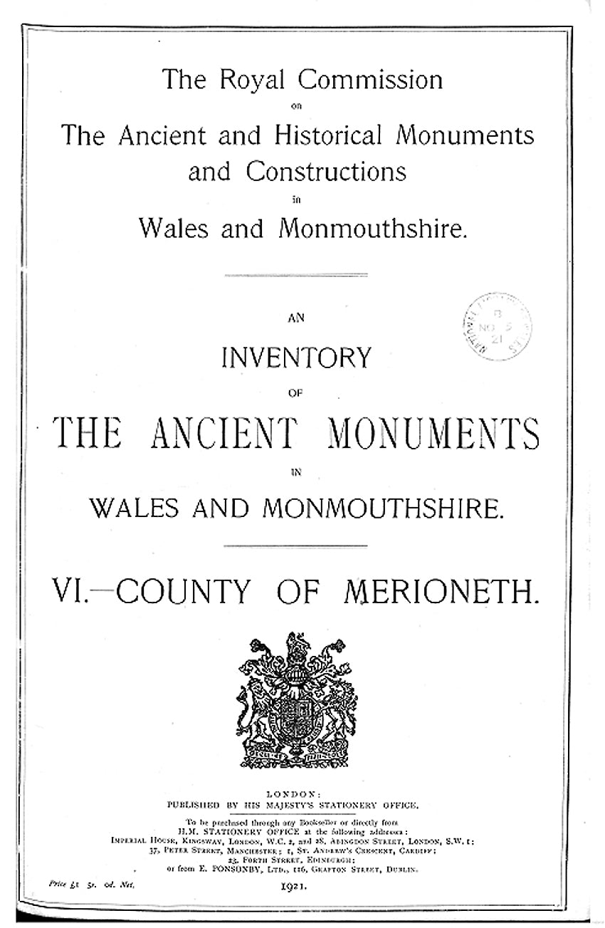Merionethshire: An Inventory of the Ancient Monuments in the County (eBook)
