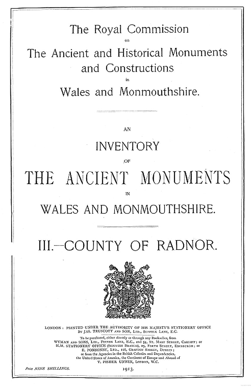 Radnorshire: An Inventory of the Ancient Monuments in the County (eBook)