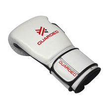 Boxing Gloves for Bag work & Sparring, White & Red, 12oz/16oz, Beretta Pro by Guarded Fight Gear