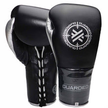Calibre Pro Lace Up Sparring Glove, Black/Silver Chrome