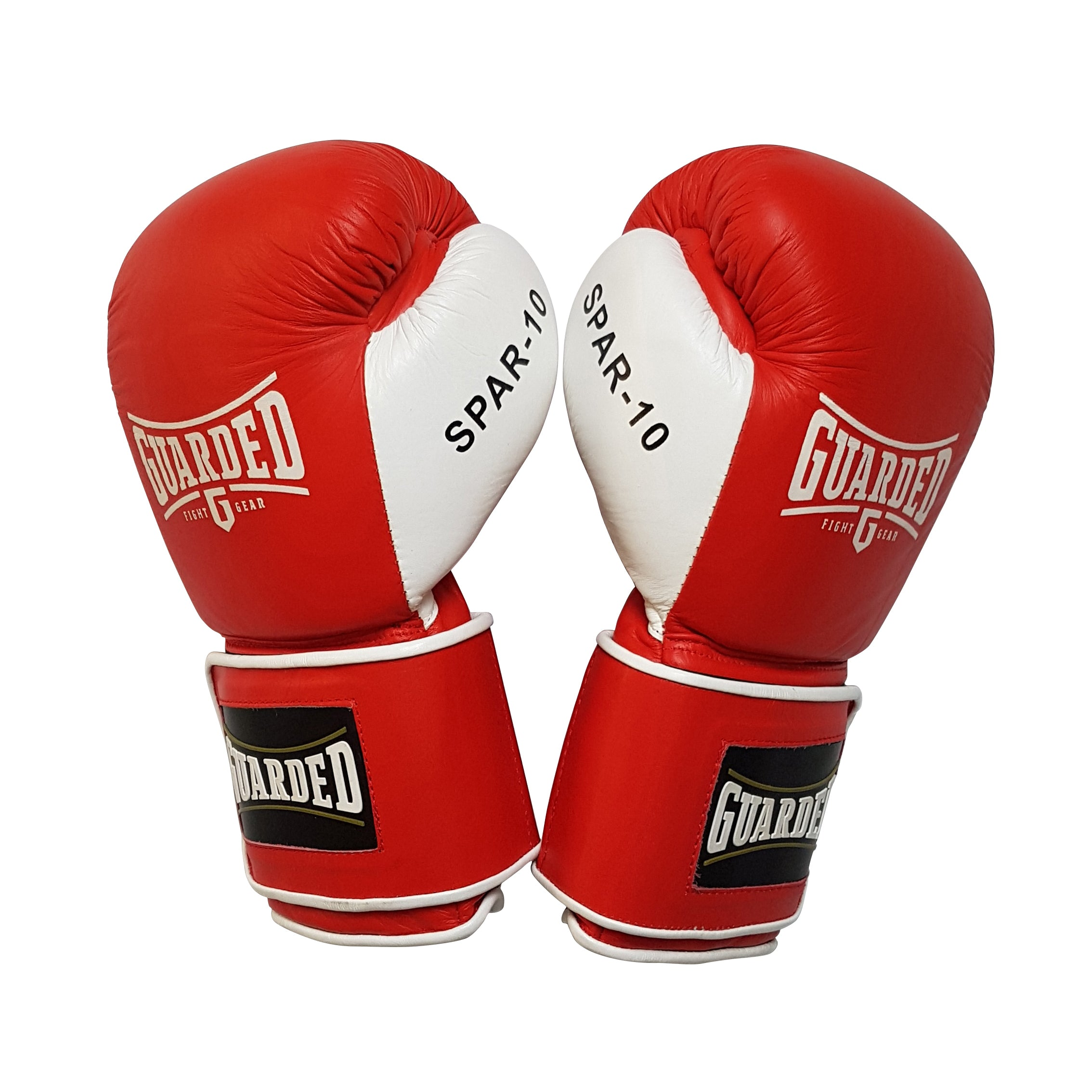 Sparring Gloves, Red, 16 oz, SPAR-10 by Guarded Fight Gear