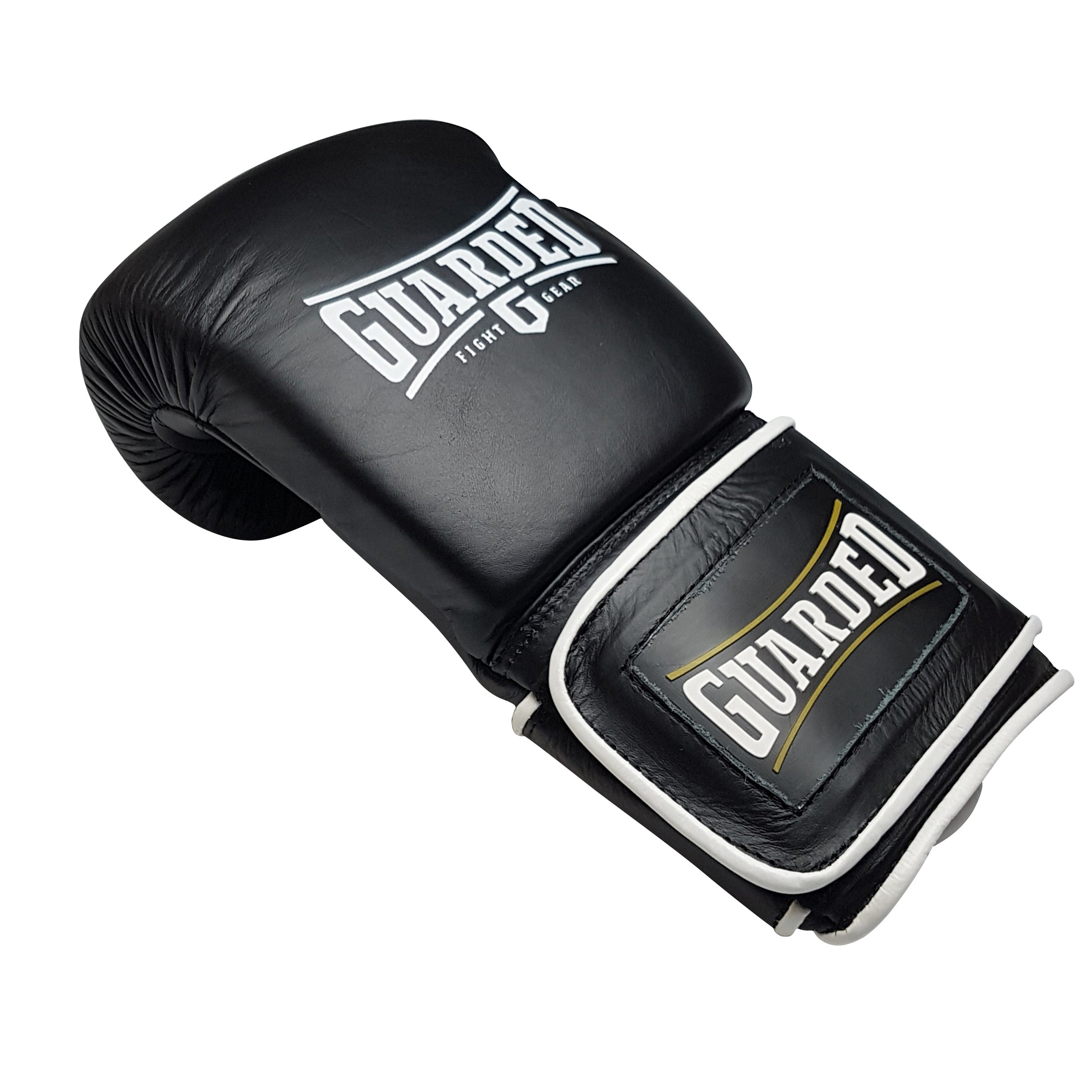 Sparring Gloves, Black, 16oz, SPAR-10 by Guarded Fight Gear