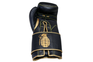 Sparring gloves, Black and Gold, 16oz, Grenades Sparring By Guarded Fight Gear