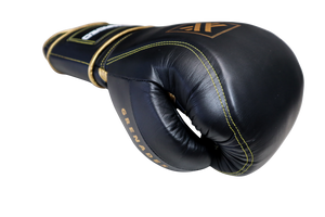 Sparring gloves, Black and Gold, 14oz & 16oz, Grenades Sparring By Guarded Fight Gear