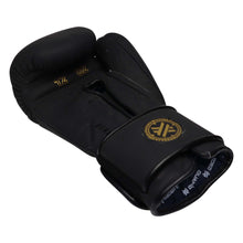 Boxing Gloves for Bag work & Sparring, Black & Gold, 12oz/16oz, Beretta Pro by Guarded Fight Gear