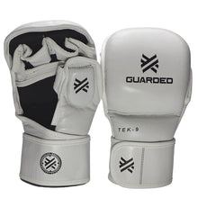TEK-9 MMA Sparring Gloves 7oz, White, By Guarded Fight Gear