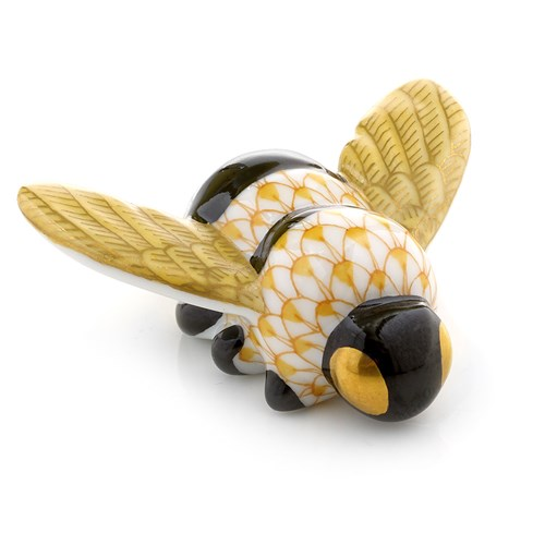 Herend Fishnet Figurine Bumble Bee