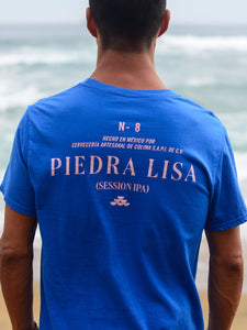 PLAYERA PIEDRA LISA (AZUL)