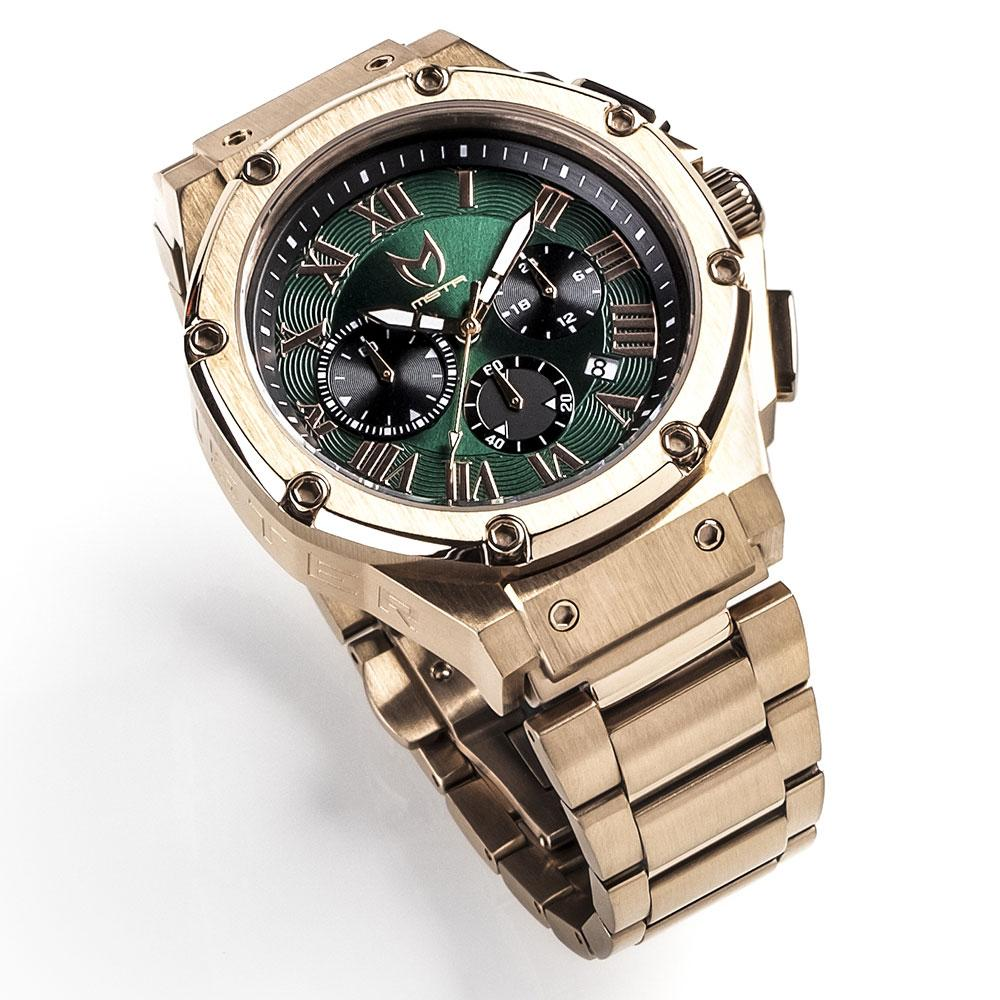 MSTR AM193SS AMBASSADOR / ROSE GOLD & GREEN - STAINLESS STEEL