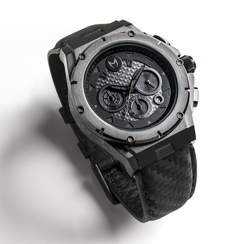 MSTR AM218CF MKIII STAINLESS STEEL CASE - BLACK / BLACK CF BAND