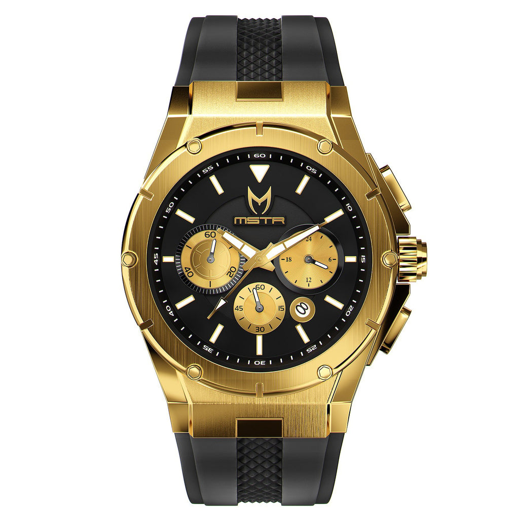 MSTR AM254RB- MK3 18K GOLD / BLACK / RUBBER BAND NEW