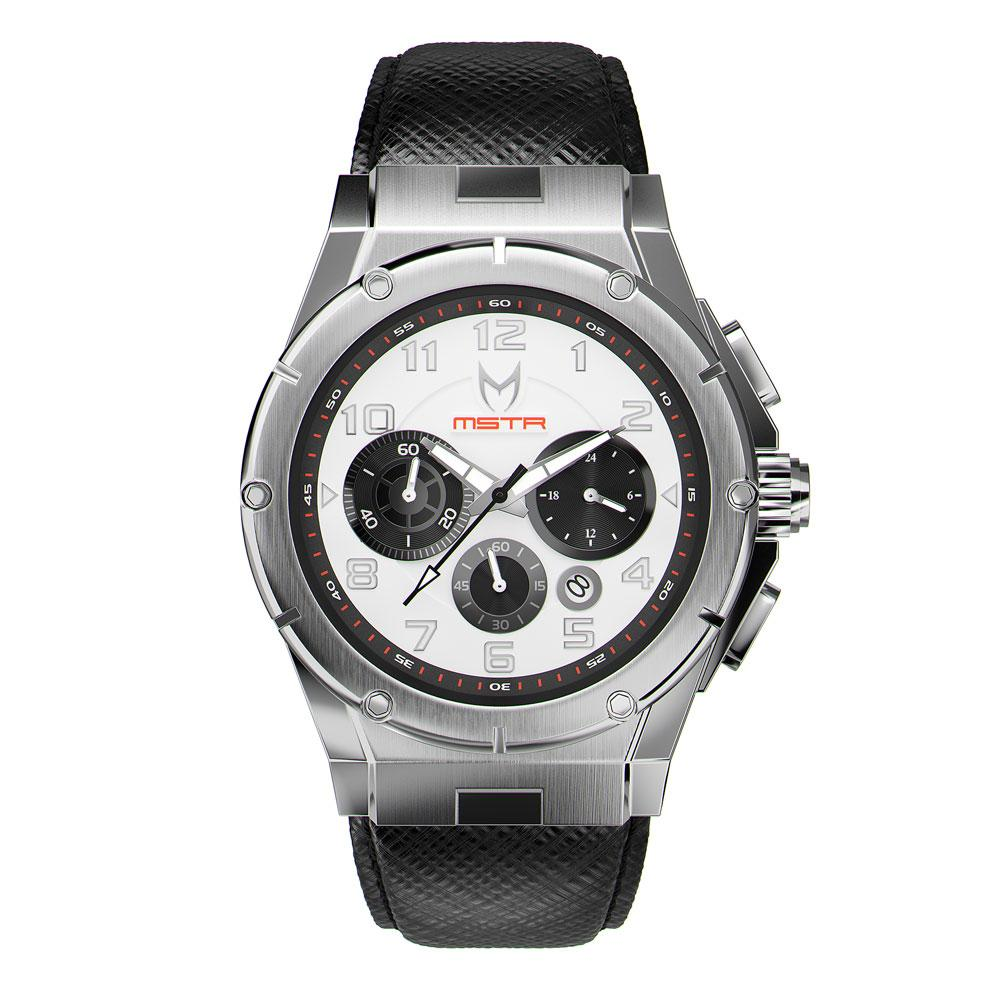 MSTR AM259SB - MK3 SILVER / WHITE / SAFFIANO BAND