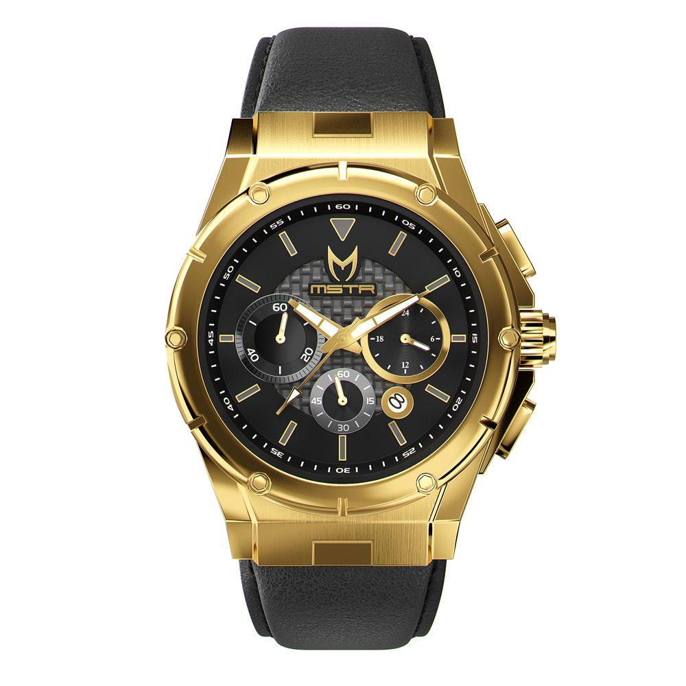 MSTR AM260LB - MK3 GOLD / BLACK / LEATHER BAND